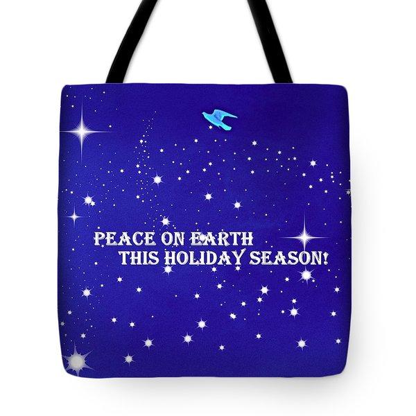 Peace On Earth Card Tote Bag