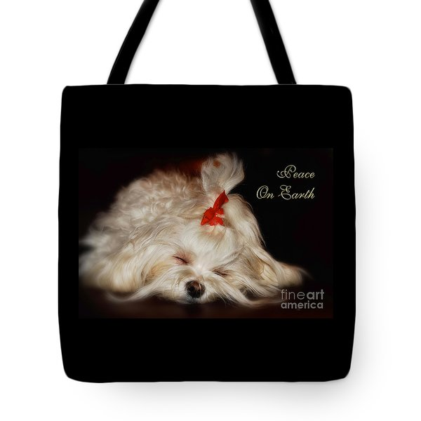 Peace On Earth Tote Bag by Lois Bryan