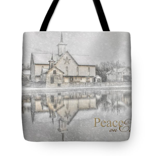 Peace On Earth Tote Bag by Lori Deiter