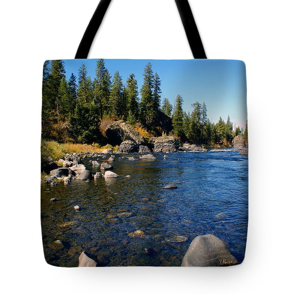 Peace On The Spokane River 2 Tote Bag