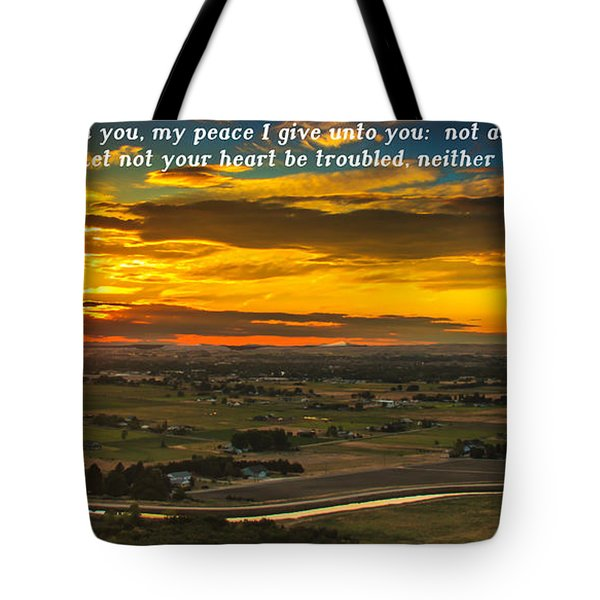 Peace Tote Bag by Robert Bales