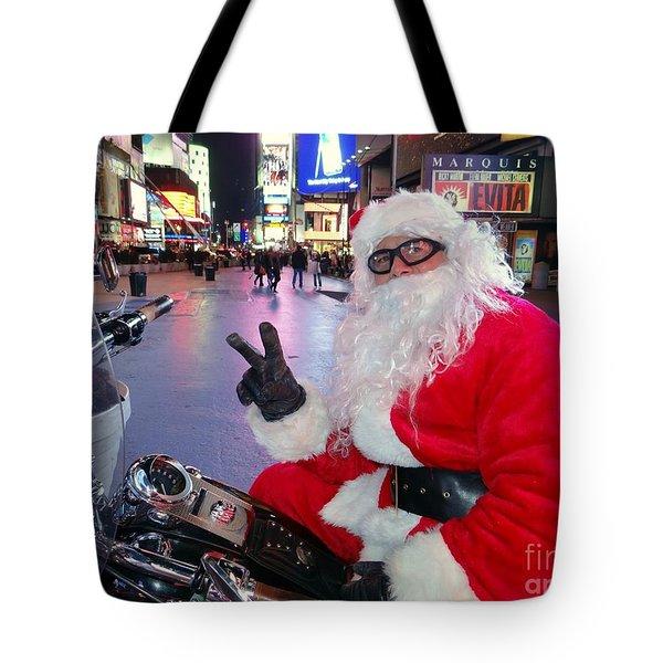 Peace Santa Tote Bag by Ed Weidman