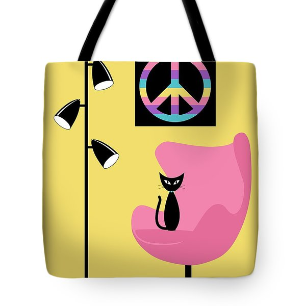 Tote Bag featuring the digital art Peace Symbol by Donna Mibus