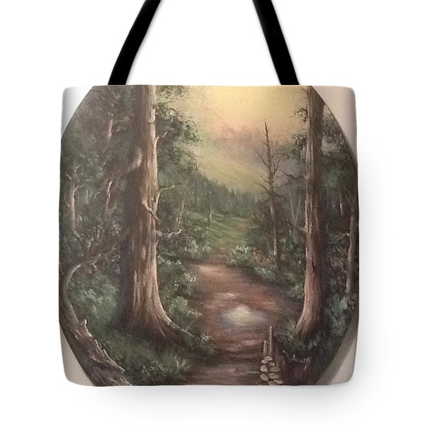 Tote Bag featuring the painting Peace Time by Megan Walsh