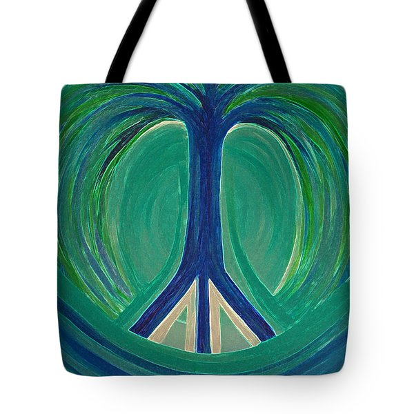 Peace Tree By Jrr Tote Bag