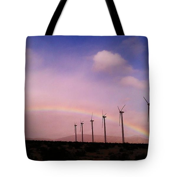 Peace Under The Rainbow Tote Bag
