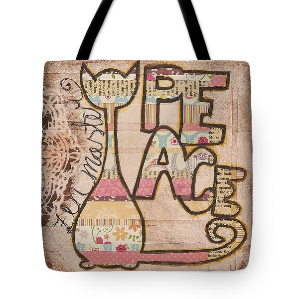 Peace - Zen Master Inspirational Art Tote Bag by Stanka Vukelic