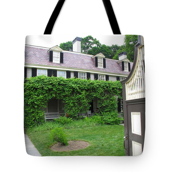 Peacefield The Old House Tote Bag by Barbara McDevitt