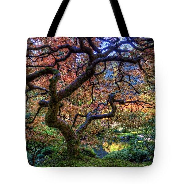 Peaceful Autumn Morning Tote Bag
