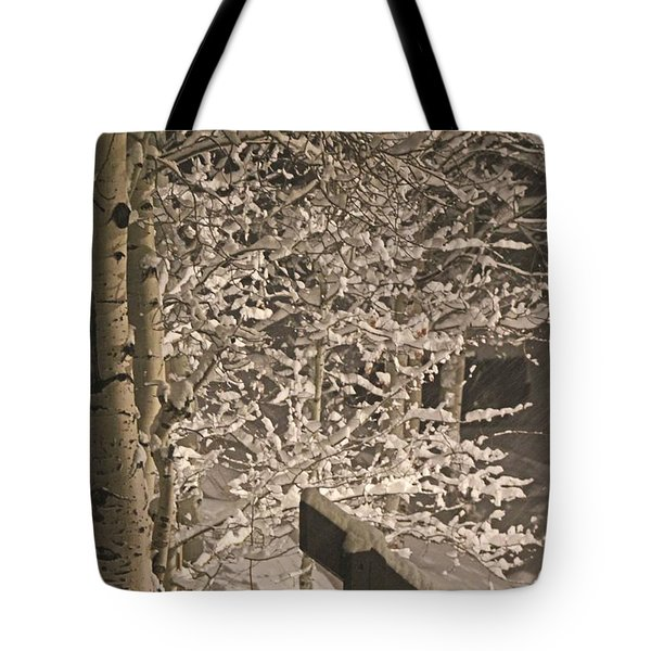 Tote Bag featuring the photograph Peaceful Blizzard by Fiona Kennard