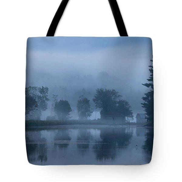 Peaceful Blue Tote Bag