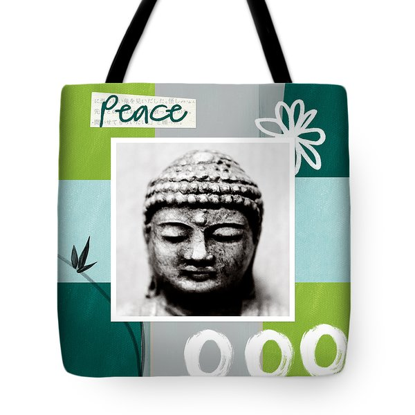 Peaceful Buddha- Zen Art Tote Bag