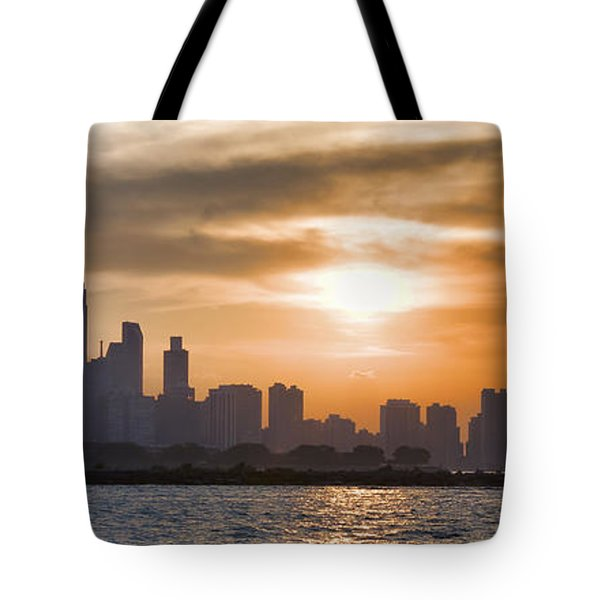 Peaceful Chicago Tote Bag