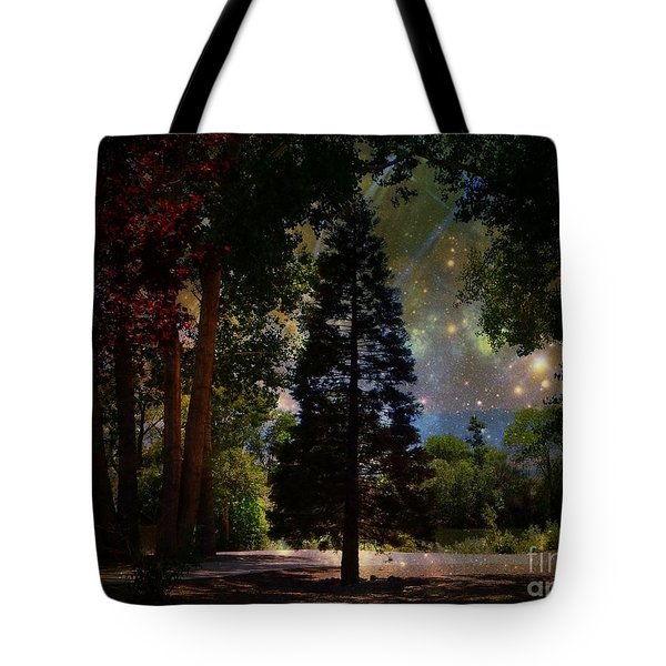 Magical Night At The River Tote Bag