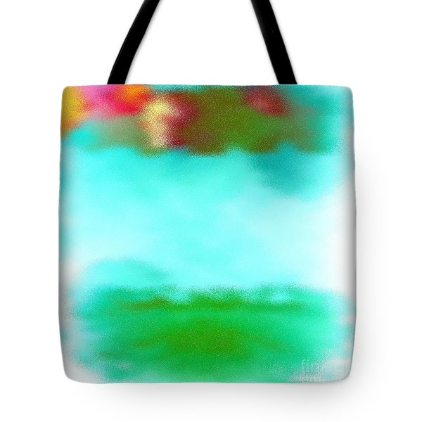 Peaceful Noise Tote Bag by Anita Lewis