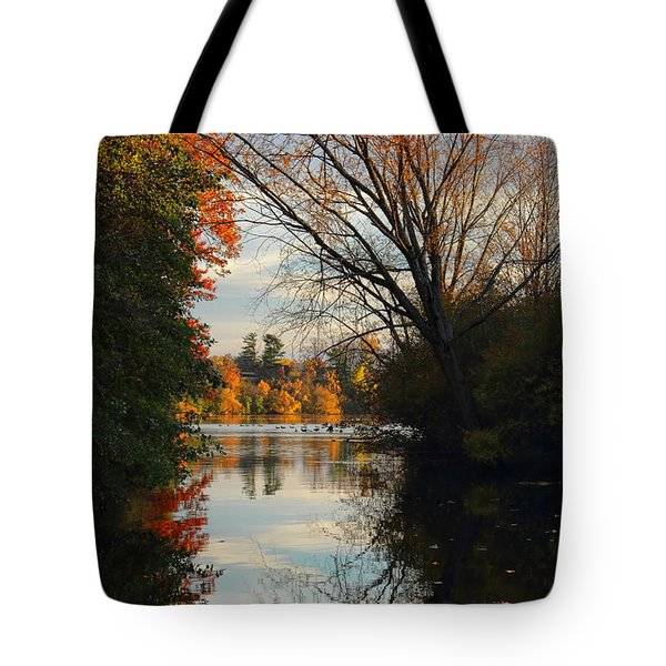 Peaceful October Afternoon Tote Bag