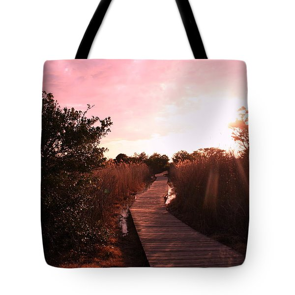 Tote Bag featuring the photograph Peaceful Path by Karen Silvestri
