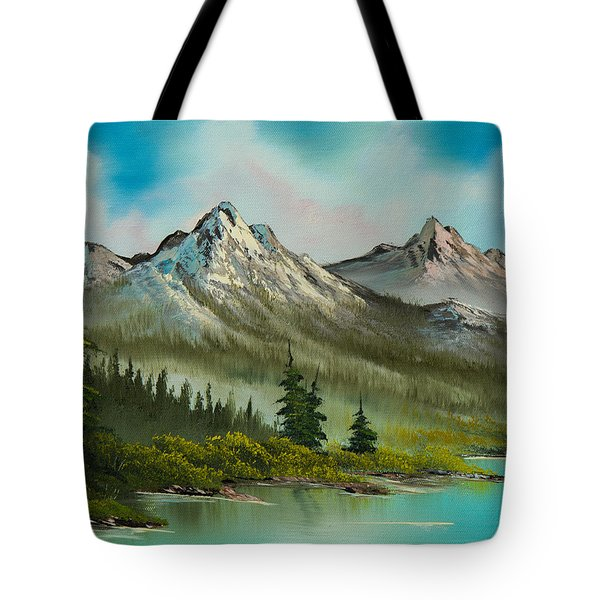 Peaceful Pines Tote Bag by C Steele