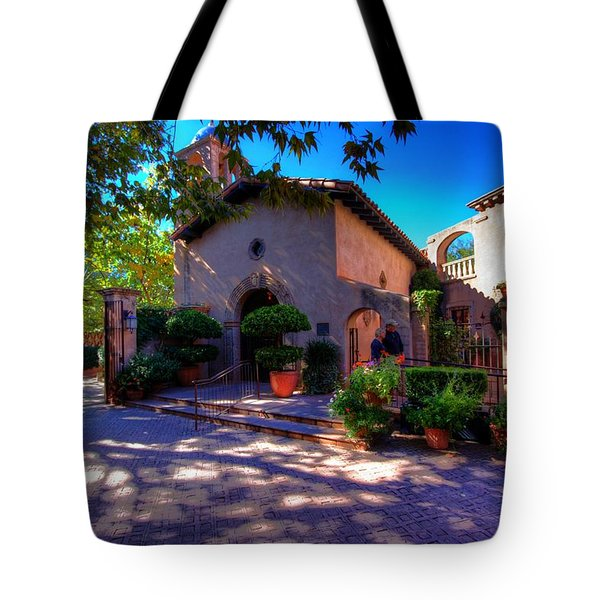 Peaceful Plaza Tote Bag by Dave Files