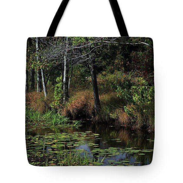 Peaceful Pond Tote Bag by Karol Livote
