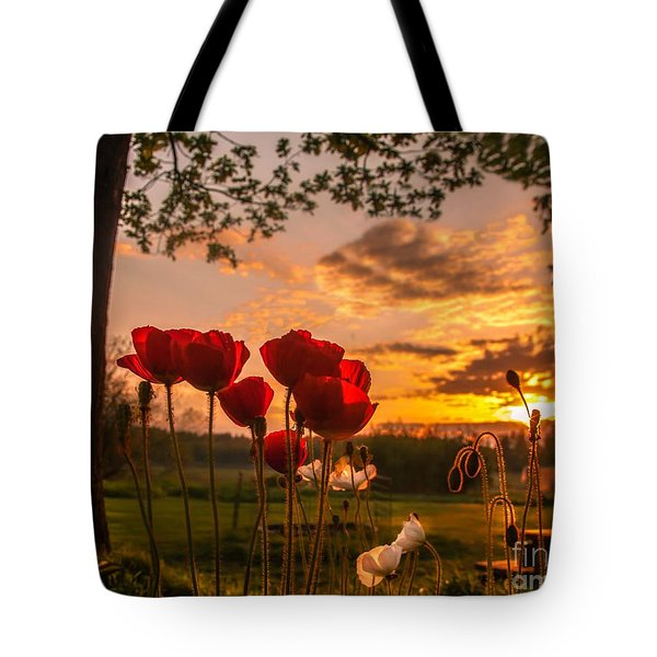 Peaceful Poppy Tote Bag by Rose-Maries Pictures