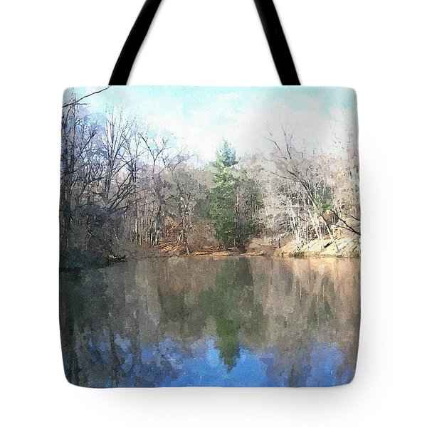 Tote Bag featuring the painting Peaceful Retreat 2 by Sara  Raber