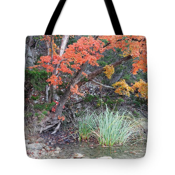 Peaceful Retreat Lost Maples Texas Hill Country Tote Bag