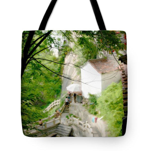 Peaceful Spot In China Tote Bag