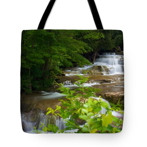 Peaceful Stockbridge Falls  Tote Bag by Dave Files
