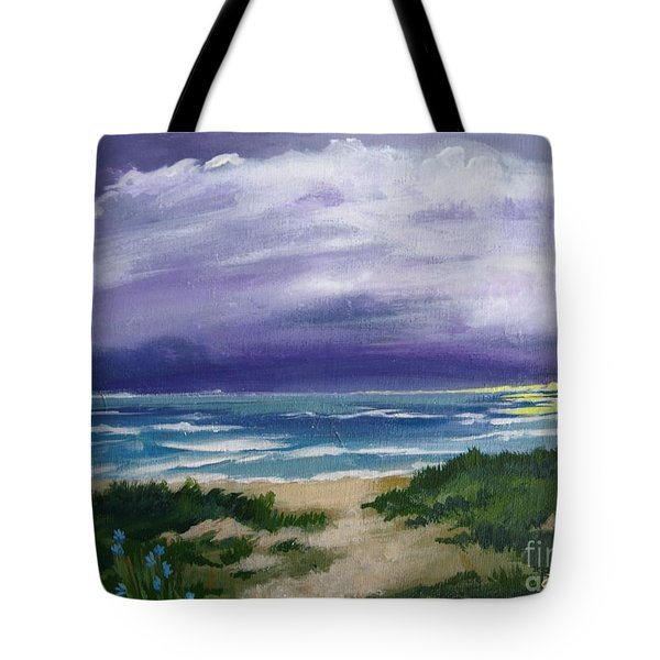 Peaceful Sunrise Tote Bag by J Linder