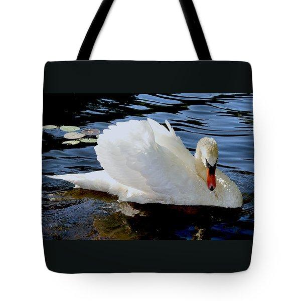 Peaceful Swan Tote Bag