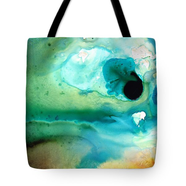Tote Bag featuring the painting Peaceful Understanding by Sharon Cummings