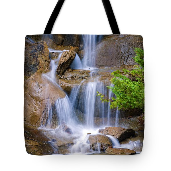 Tote Bag featuring the photograph Peaceful Waterfall by Jordan Blackstone