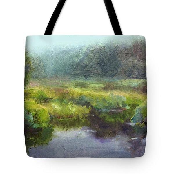 Peaceful Waters Impressionistic Landscape  Tote Bag