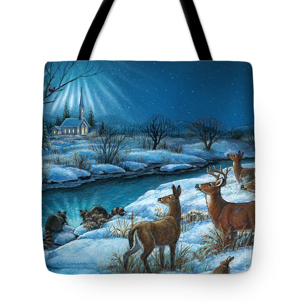 Peaceful Winters Night Tote Bag
