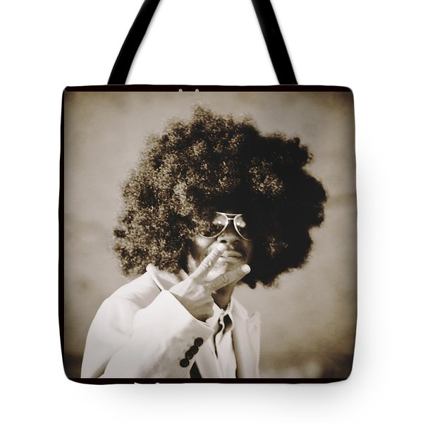 Tote Bag featuring the photograph Peaceman by Alice Gipson