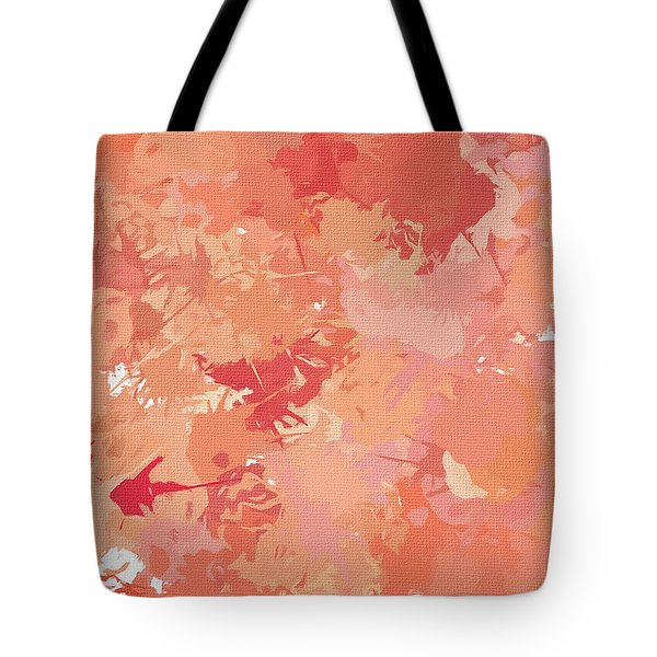 Peach Galore Tote Bag by Lourry Legarde