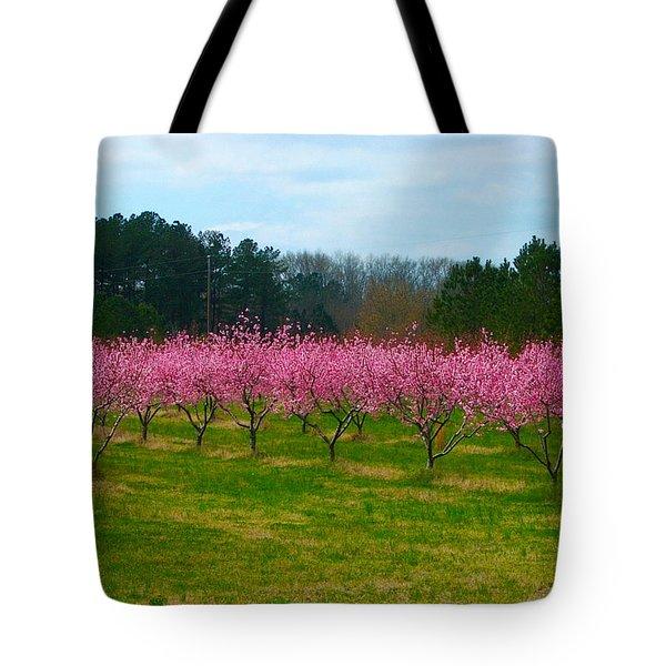 Peach Tree Grove By Jan Marvin Tote Bag