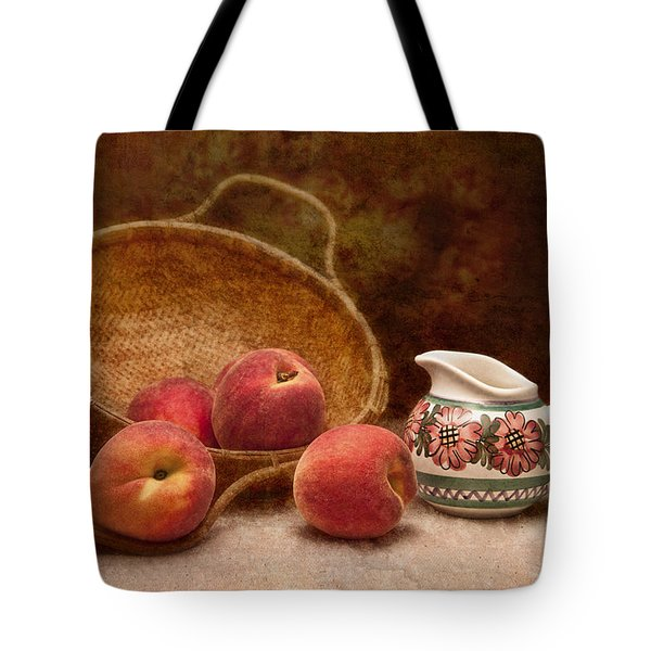 Peaches And Cream Still Life II Tote Bag by Tom Mc Nemar