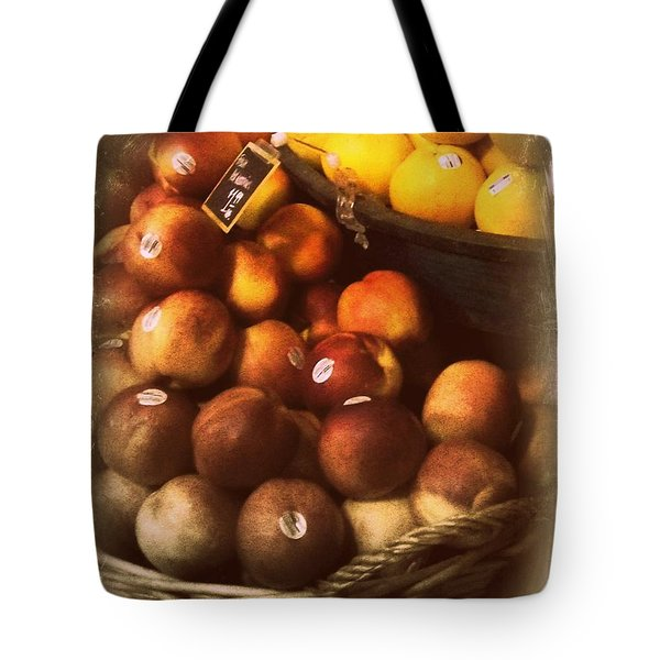 Peaches And Lemons - Old Photo - Top Finisher Tote Bag by Miriam Danar