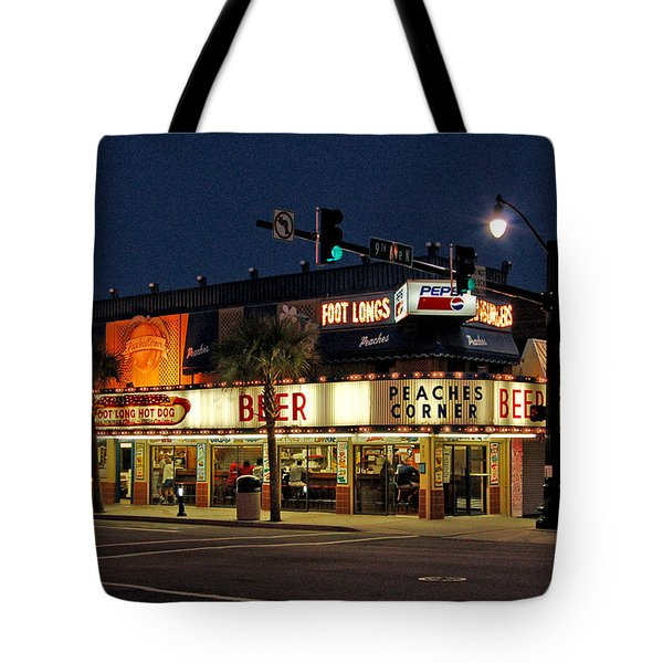 Peaches Corner Tote Bag