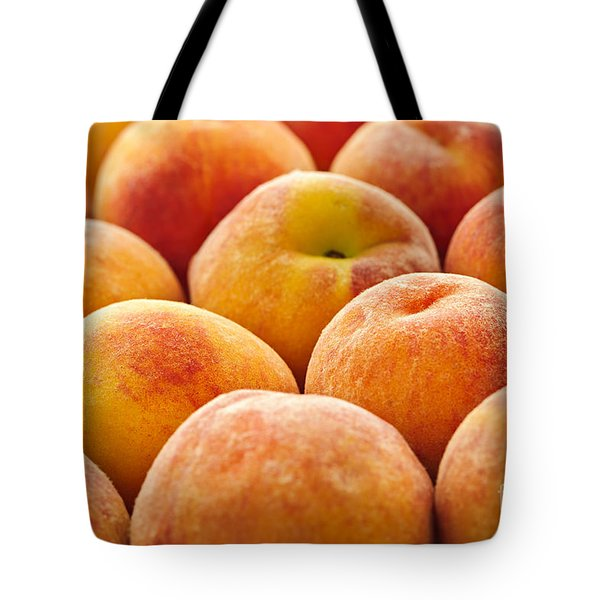 Peaches Tote Bag by Elena Elisseeva