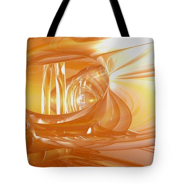 Peaches N' Cream Tote Bag by Joshua Thompson