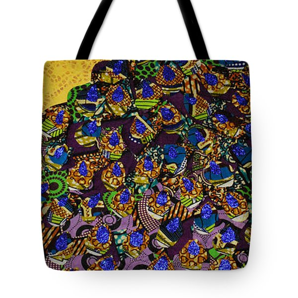 Peacock Blue Tote Bag