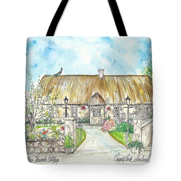 House Portrait Peacock Cottage Kanturk County Cork Ireland Tote Bag