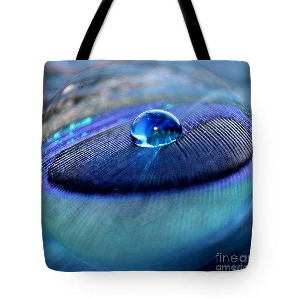 Peacock Globe Tote Bag