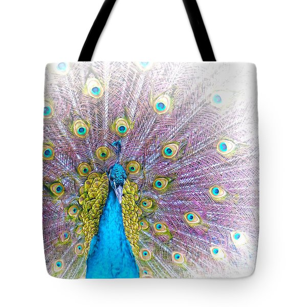 Peacock Tote Bag by Holly Kempe