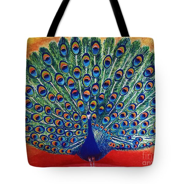 Peacock By Jasna Gopic Tote Bag
