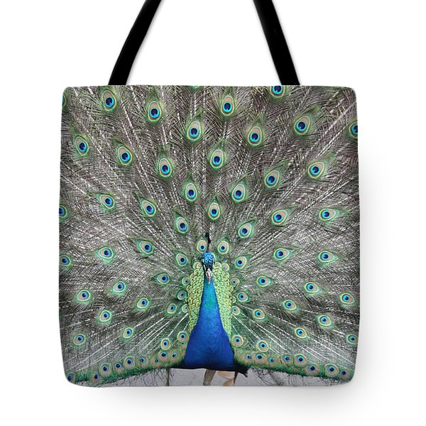 Tote Bag featuring the photograph Peacock by John Telfer