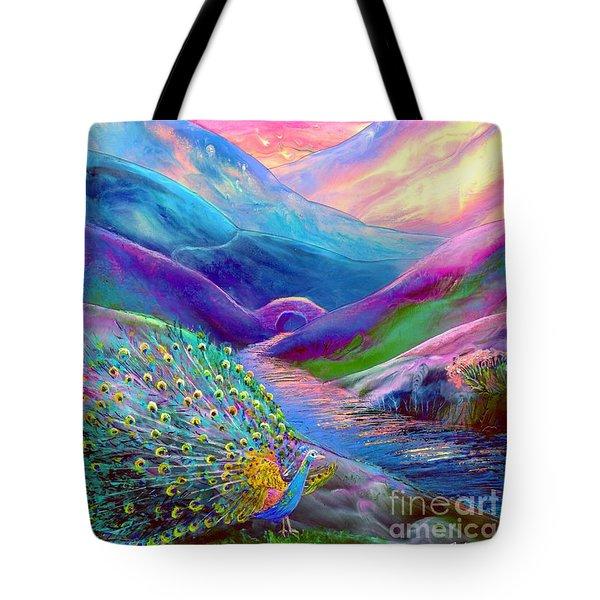 Peacock Magic Tote Bag